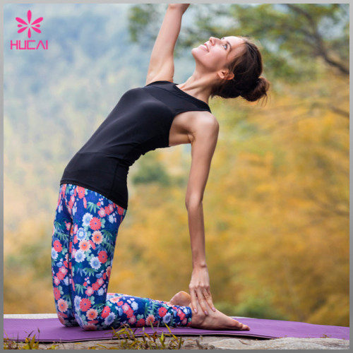 Custom Design Polyester Spandex Women Wholesale Dry Fit Printed Running Tights