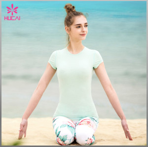 Wholesale Polyester Spandex Slim Fit Leggings Capri Sublimation Sports Tights For Girls