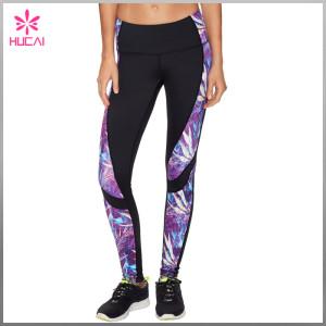Wholesale Nylon Spandex Sexy Leggings Women Sublimation Mesh Compression Tights