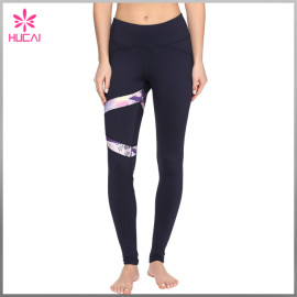 Wholesale Nylon Spandex Custom Sexy Women Full Length Printed Sports Leggings