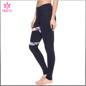 Wholesale Nylon Spandex Custom Sexy Women Full Length Printed Sports Leggings