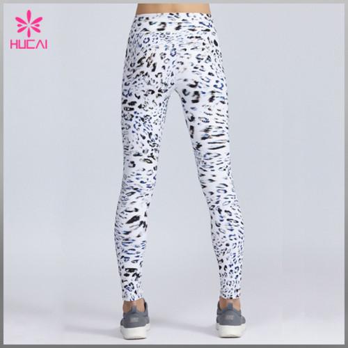 Wholesale Custom Polyester Spandex Women Mesh Sublimation Printed Running Leggings