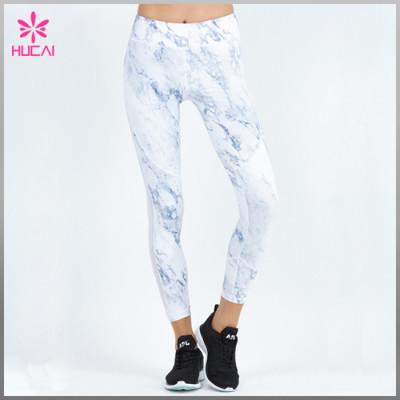 Wholesale Polyester Spandex Women Full Length Mesh Sublimation Workout Leggings