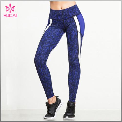 Wholesale Nylon Spandex Yoga Clothes Custom Printed Running Pants Women