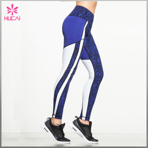 Wholesale Nylon Spandex Yoga Clothes Custom Printed Running Pants Women