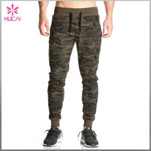 Custom Cotton Polyester Camo Pants Wholesale Men Jogger Sweatpants