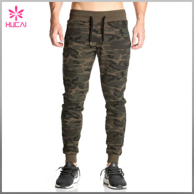 Custom Cotton Polyester Camo Pants Wholesale Men Jogger Sweatpants