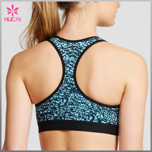 Wholesale Polyester Spandex Sexy Women Racerback Sublimation Sports Bra