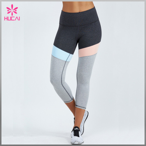 Wholesale Nylon Spandex Yoga Wear Dry Fit Custom Women Compression Pants