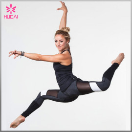 OEM Factory Nylon Spandex Moisture Wicking Women Mesh Custom Yoga Wear Wholesale