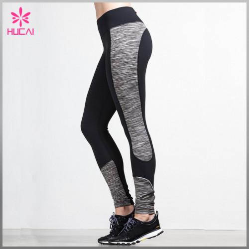 Wholesale Nylon Spandex Space Dye Leggings Custom Gym Wear Women Dry Fit