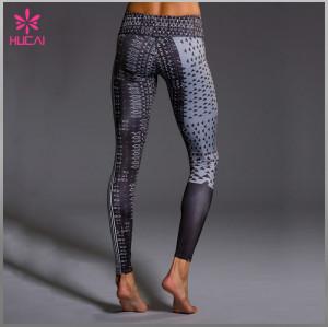 Wholesale Polyester Spandex Leggings Custom Women Sublimation Fitness Wear