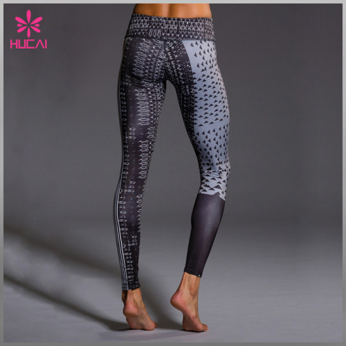 Wholesale Polyester Spandex Leggings Custom Women Sublimation Fitness Wear
