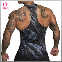 Wholesale Racerback Dry Fit Tank Top Muscle Fit Custom Fitness Clothing Men