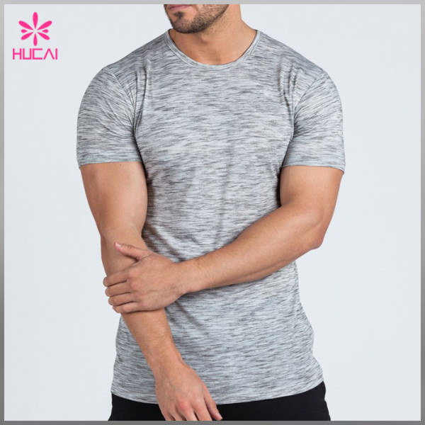 Wholesale Polyester Spandex T Shirts Custom Dry Fit Fitness Clothes Men Running