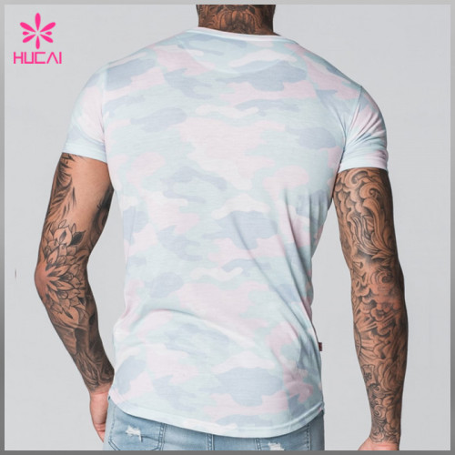 High Quality Polyester Spandex Dry Fit T Shirts Custom Gym Apparel Men
