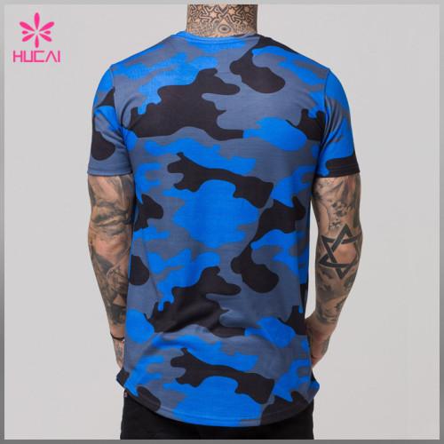 High Quality Bodybuilding Camo T Shirts Wholesale Fitness Apparel Custom Men