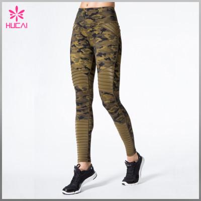 Wholesale Nylon Spandex Sublimation Workout Leggings Custom Women Sports Wear