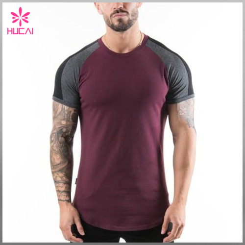 Wholesale stretchy Running Clothing Mens Slim Fit Fitness T Shirt