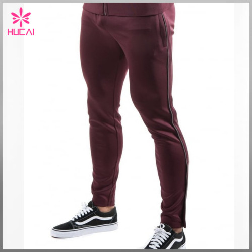 Wholesale Stretchy Polyester Sweat Pants Tapered Mens Jogger