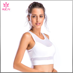 Custom Color Yoga Bra Nylon Spandex Women OEM Mesh Crop Top