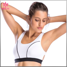 New Design Nylon Spandex Women Sports Wear 4 Way Stretch Mesh Yoga Bra Set