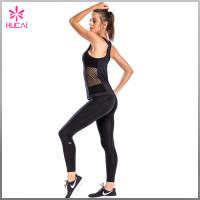 Wholesale Polyester Spandex Gym Wear Dry Fit Mesh Side Women Tank Top