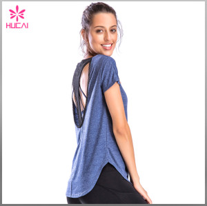 Wholesale Dry Fit Women Backless Round Bottom Loose Fit Tank Top