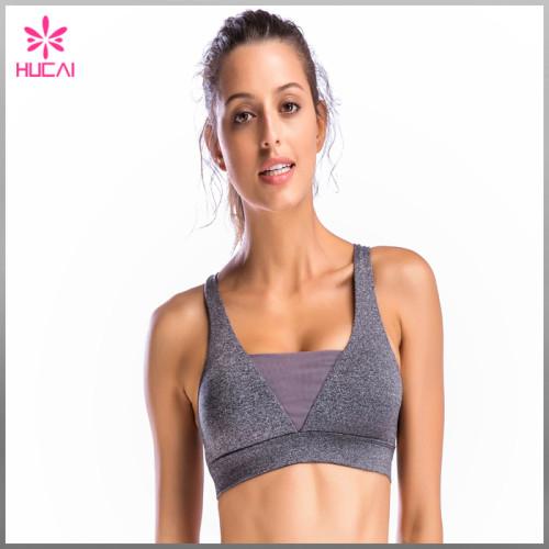 Wholesale V Front Design Yoga Wear Quick Dry Women Sexy Gym Bra