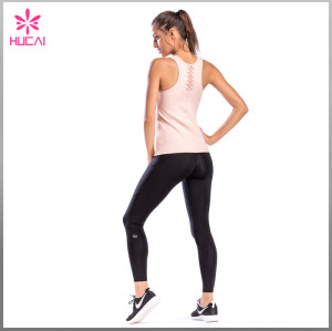 Wholesale Dry Fit Polyester Spandex Gym Clothing Women Plain Yoga Vest