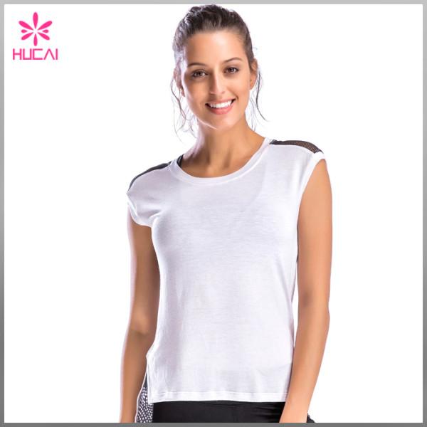 High Quality Gym Shirt Fitness Clothing Mesh Back Yoga Tank Top For Women