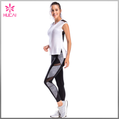 High Quality Gym Shirt Fitness Clothing Mesh Back Yoga Tank Top For Women
