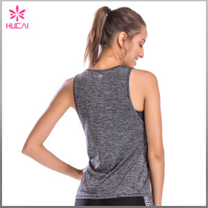 Wholesale Gym Clothing Mesh Insert Slim Fit Women Custom Tank Tops