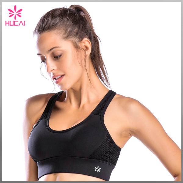 Wholesale Yoga Apparel Gym Top Dry Fit Plain Sports Bra For Women