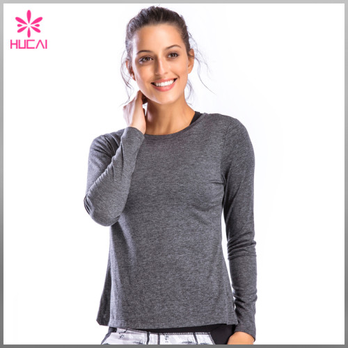 Wholesale Yoga Clothing Backless Slim Fit Long Sleeve Gym Shirt Womens