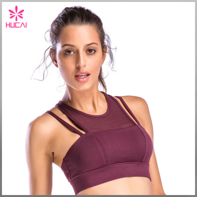 Wholesale Gym Clothing Yoga Wear Womens Mesh Sports Bra Sets