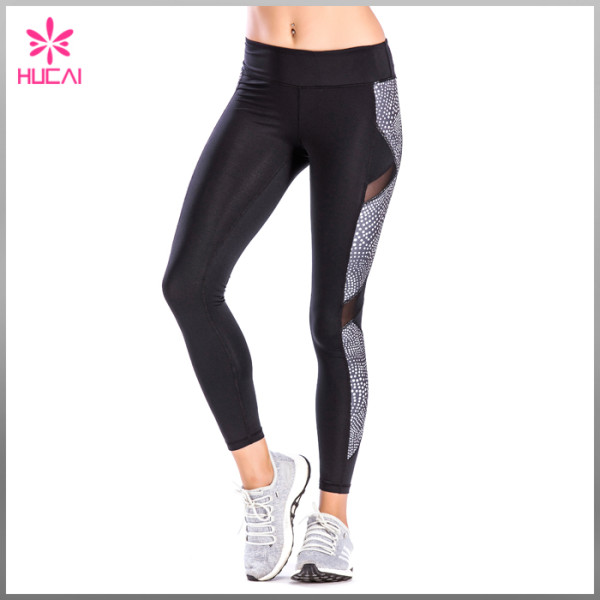 OEM Factory Four Way Stretch Yoga Wear Custom Compression Tights Women Cheap