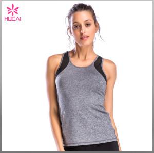 Wholesale Gym Clothing Yoga Wear Women Slim Fit Mesh Tank Top