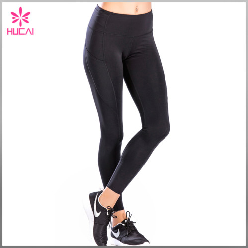 fdff5dd129 Custom Nylon Spandex Fitness Clothing Women Dry Fit Plain Yoga Pants ...