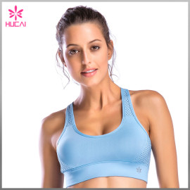 Wholesale Popular Color Women Round Neck Strappy X Back Sports Bra
