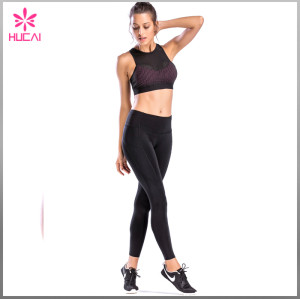Wholesale Fitness Clothing Women Yoga Wear Dry Fit Mesh Push Up Sports Bra