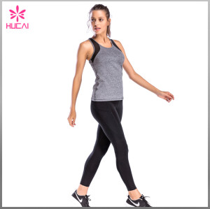 Wholesale Slim Fit Yoga Wear Dry Fit Racerback Women Mesh Gym Vest