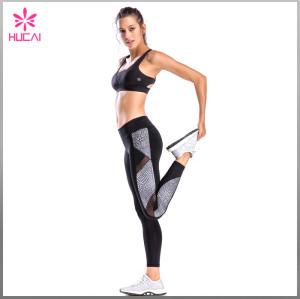 OEM Sports Wear Sexy Dry Fit Women Strappy X Back Fitness Bra