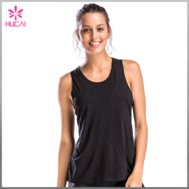 Wholesale Yoga Tank Top Gym Wear Loose Fit Women Fitness Clothing