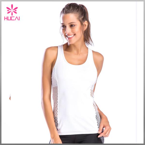OEM Factory Sports Apparel Yoga Wear Slim Fit Women Mesh Gym Clothing