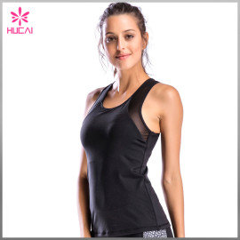 Custom Racerback Yoga Wear Dry Fit Women Mesh Gym Apparel