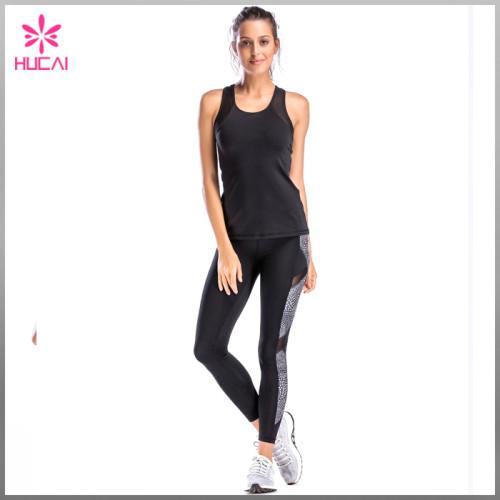 Custom Racerback Yoga Wear Dry Fit Women Mesh Gym Apparel