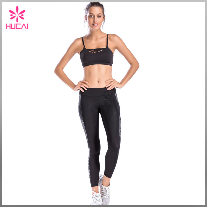 custom elastic band sports bra