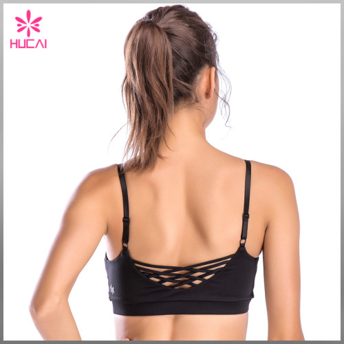 Hot Sale Yoga Clothing Strappy Back Women Sexy Workout Sports Bra