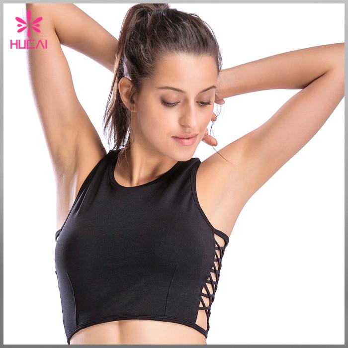 OEM Nylon Spandex Yoga Clothing Dry Fit Custom Crop Top Women